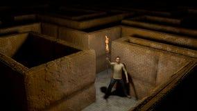 Lumière dans un labyrinthe Images libres de droits