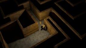 Lumière dans un labyrinthe Images stock