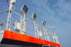 lumière de bateau sur le dessus un pont photographie stock