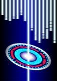 Lumière de bleu d'énergie et de résumé Images stock