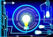 Lumière de bleu d'énergie et de résumé Photo stock