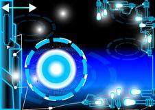 Lumière de bleu d'énergie et de résumé Images libres de droits