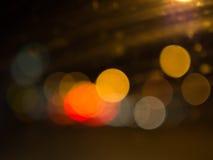 Lumière de Bokeh avec l'effet de miroir Photo libre de droits