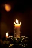 Lumière de bougie Photos stock