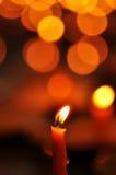Lumière de bougie Images libres de droits