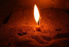 Lumière de bougie Photos libres de droits