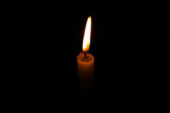 Lumière de bougie Image libre de droits