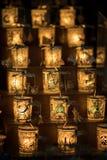 Lumière de bougie de carrousel photos stock