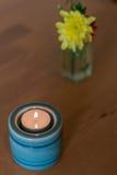 Lumière de bougie de station thermale Photo stock
