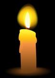 Lumière de bougie de vecteur Images libres de droits
