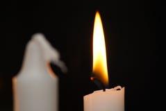 Lumière de bougie, fin Images stock