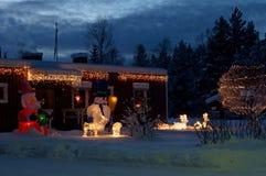 Lumière de Christmass Photos libres de droits