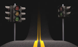 Lumière de circulation routière Photos stock