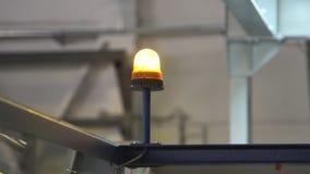 Lumière de clignotant de secours banque de vidéos