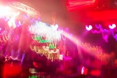 Lumière de club de Defocus Lumières troubles Photo libre de droits