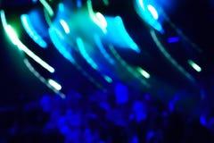 Lumière de club de Defocus Lumières troubles Images stock
