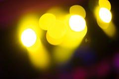 Lumière de club de Defocus Lumières troubles Images libres de droits