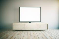 Lumière de coffret de TV Image libre de droits