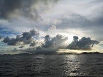 Lumière de coucher du soleil chez Cyberport Hong Kong Images libres de droits