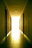 lumière de couloir à Photo libre de droits