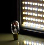 Lumière de DEL et de tungstène Photographie stock libre de droits
