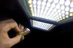 Lumière de DEL et de tungstène Image stock