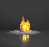 Lumière de fête dans la maison Image stock