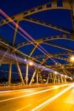 Lumière de faisceau de pont de Krungthep à Bangkok Thaïlande Image libre de droits