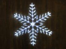 Lumière de flocon de neige Photo libre de droits