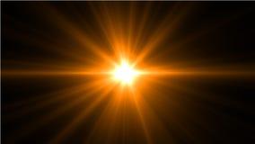 Lumière de fusée de lentille au-dessus de fond noir Facile d'ajouter le recouvrement Photo libre de droits