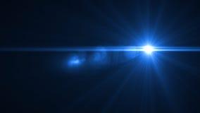 Lumière de fusée de lentille au-dessus de fond noir Facile d'ajouter le recouvrement Image libre de droits