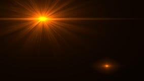 Lumière de fusée de lentille au-dessus de fond noir Facile d'ajouter le recouvrement Photographie stock
