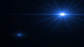 Lumière de fusée de lentille au-dessus de fond noir Facile d'ajouter le recouvrement Photo stock