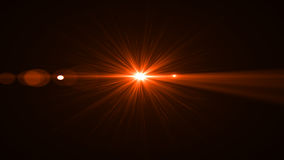 Lumière de fusée de lentille au-dessus de fond noir Facile d'ajouter le recouvrement Photographie stock libre de droits