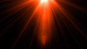 Lumière de fusée de lentille au-dessus de fond noir Facile d'ajouter le recouvrement Photos libres de droits