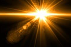 Lumière de fusée de lentille au-dessus de fond noir Facile d'ajouter le recouvrement ou le s Image libre de droits