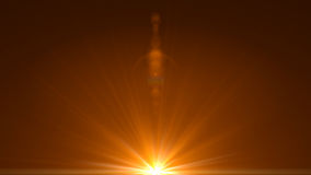 Lumière de fusée de lentille au-dessus de fond noir Facile d'ajouter le recouvrement ou le s Photos stock