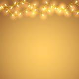 Lumière de guirlandes de vacances Photographie stock libre de droits