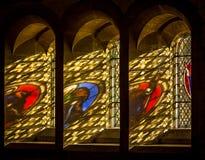 Lumière de Heavans par le verre souillé Photo libre de droits