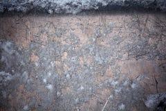 Lumière de jour de texture de Windows congelée par hiver photographie stock