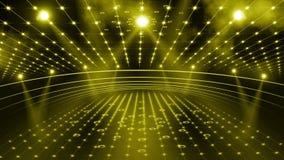 Lumière de l'étape 3d de concert banque de vidéos