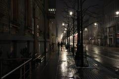 Lumière de la nuit de ville Image libre de droits