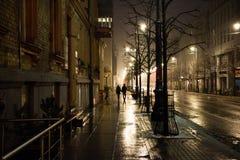 Lumière de la nuit de ville Photographie stock