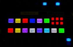 Lumière de mélangeur numérique Images stock