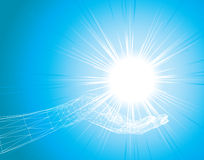 lumière de main Images stock