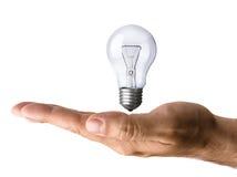 lumière de main d'ampoule photographie stock libre de droits