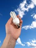 lumière de main d'ampoule Photographie stock
