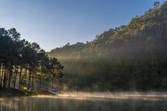 Lumière de matin au lac pang Ung Photo libre de droits