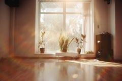 Lumière de matin dans la chambre vide Photo libre de droits