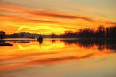 Lumière de matin de port, Steveston, Richmond, AVANT JÉSUS CHRIST Photo libre de droits